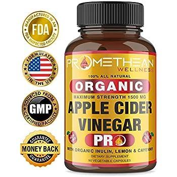 Amazon.com: Organic Apple Cider Vinegar Pills Max 1740mg