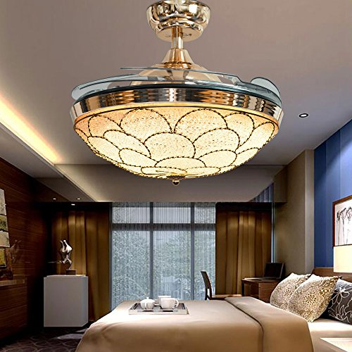 Huston Fan 42 inch Ceiling Fan With Remote Control,Retractable Blades For Bedroom,Living (Ceil Finish Kit)