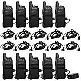Retevis RT22 Two Way Radio Vox Walkie Talkies with Professional C-Type Earpiece(10 Pack)