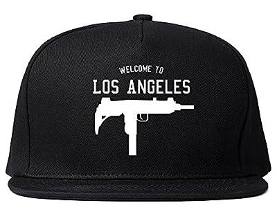 Welcome to Los Angeles Uzi Machine Gun California Snapback Hat Cap