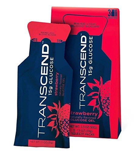 - TRANSCEND 15g Glucose Gel Strawberry - 3 Pack-1.1oz
