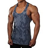 seahawks shirt light blue - Men Muscle Fitness Gym Stringer Tank Tops Bodybuilding Workout Sleeveless Shirts (Light Blue, US SMALL(Tag L))