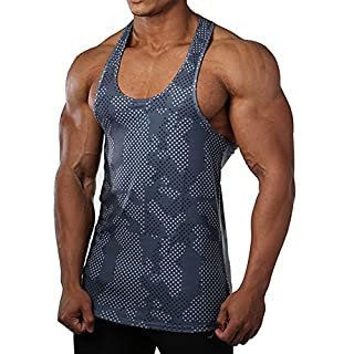 EVERWORTH Men Muscle Fitness Gym Stringer Tank Tops Bodybuilding Workout Sleeveless Shirts (Light Blue, US Small(Tag L)) (B072DWQBSR) | Amazon price tracker / tracking, Amazon price history charts, Amazon price watches, Amazon price drop alerts