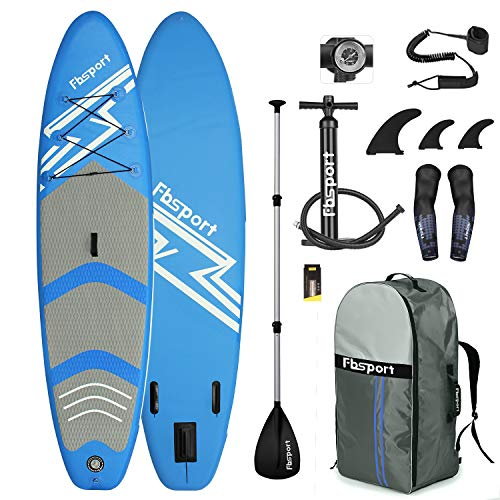 Premium Inflatable Stand Up Paddle Board (6 inches Thick) with Durable SUP Accessories & Carry Bag | Wide Stance, Surf Control, Non-Slip Deck, Leash, Paddle and Pump , Standing Boat for Youth & Adult