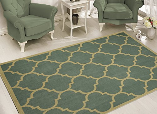 Sweet Home Stores Clifton Collection Moroccan Trellis Design Area Rug, 7'10'' X 9'10'', Seafoam