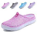 Ginjang Women's Garden Clogs Shoes Slip-on Slippers Sandals(38/Pink)