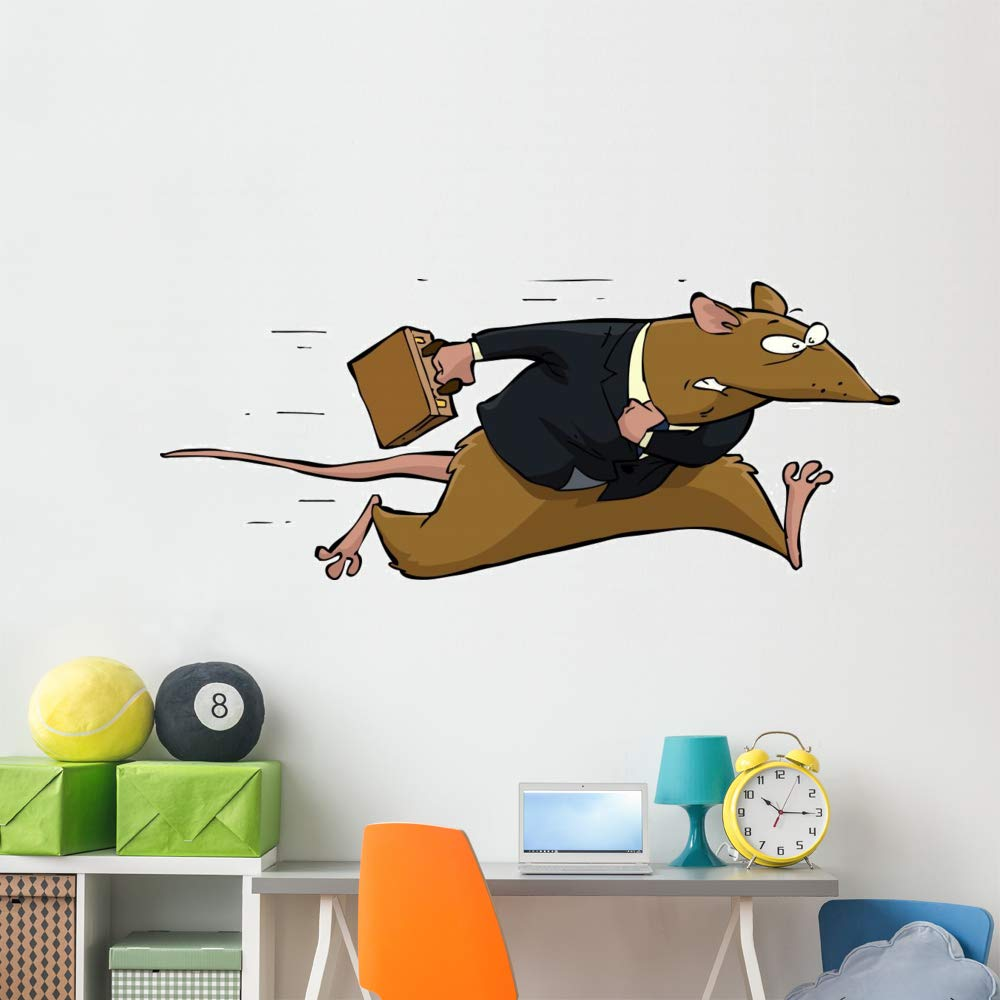 Wallmonkeys Rat Race Wall Decal Peel and Stick Animal Graphics (72 in W x 29 in H) WM497157