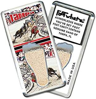 """product image for Tampa""""FootWhere"""" Souvenir Fridge Magnet. Made in USA (TP204 - Dog Race)"""