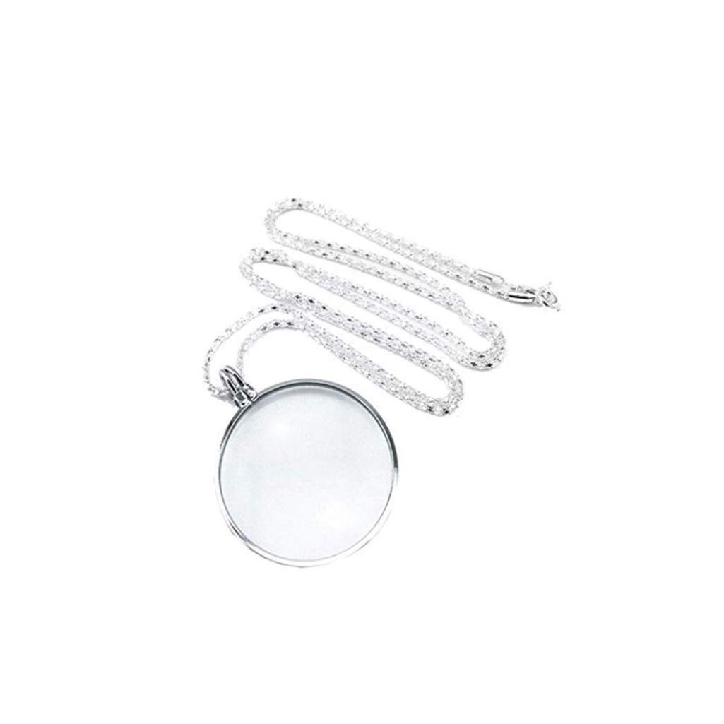 Proable Handheld 10X Magnifier Lens for Parents The Old to Read Small Prints Hty fdj Magnifying Glass with Necklace