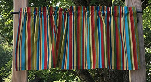 Handcrafted Valance Sewn From Patty Reed Jungle Babies Stripe Baby Fabric t5/32