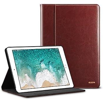 ESR iPad Pro 10.5 Inch Case, Premium Leather Business Multi-Functional Folio Stand Cover Hand Strap Pencil Holder Organizer Pocket Smart Auto Wake & Sleep for iPad Pro 10.5 inch, Brown