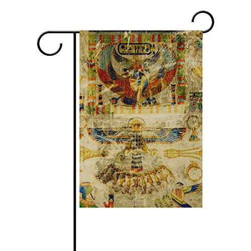 AfdsaswfvsJj Egypt Pharaoh Scrapbooking Paper Black Welcome Personalized Garden Flag Vertical Double Sided Yard Flags Outdoor Decorative House Yard Flag 28x40 Inch Polyester Durable