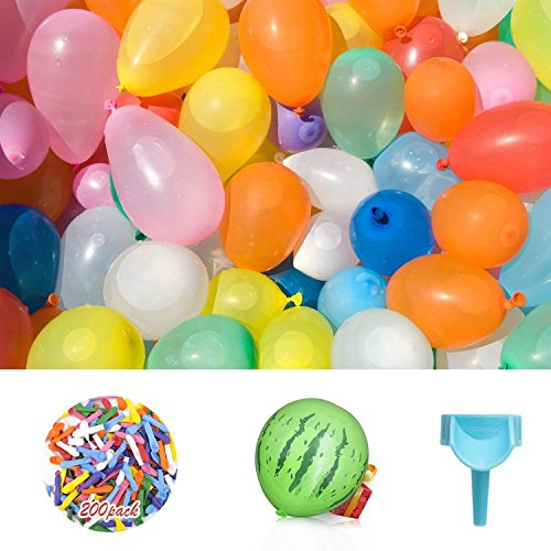 Nikolable Water Balloons, Water Balloons Bomb-Best with Pro Tap Nozzle for Summer Water Balloon Fight, Party Favors, Sports Fun for Kids & Adults (Multi-colored)