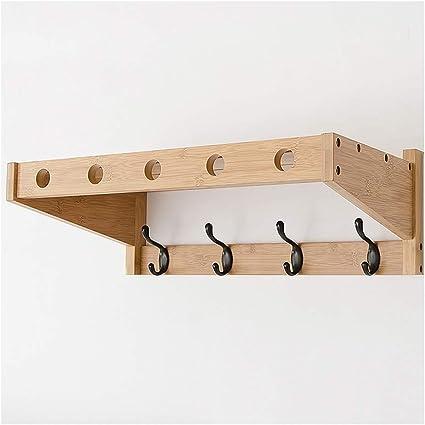 Tama/ño : 3 Hooks Perchero QFFL Pared de Pared con Gancho de Metal para el Pasillo Entrada Sal/ón Dormitorio Cocina Ba/ño-Pino suspensi/ón de la Pared
