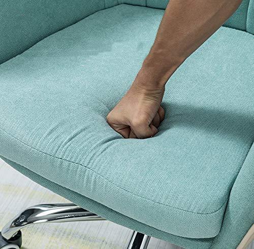 LYJBD rullande svängbar stol, ergonomisk datorstol med justerbar höjd, bekväm armlös skrivbordsstol för verkställande, formning, spel eller kontor gUL