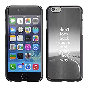 Plastic Shell Protective Case Cover || Apple iPhone 6 Plus 5.5 || Back Grey Road Freedom Inspiring @XPTECH