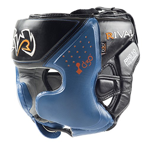 RIVAL BOXING HEADGEAR-RHG10 INTELLI-SHOCK (BLUE, LARGE)