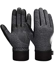 VBIGER Unisex Winter Gloves Running Gloves Touch Screen Anti-slip Thermal Sports Gloves with Updated Thickend Fleece Lining, L