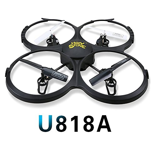 Holy Stone U818A Drone with 720P HD Camera 2.4 GHz 6-Axis gyro RC Quadcopter for Kids with Headless Mode, One Key Return and Low Voltage Alarm, Easy & Safe to - Easy Return