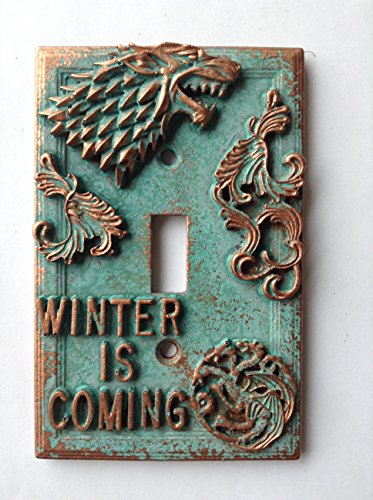 Game of Thrones Light Switch Cover - Aged Copper/Patina or Stone (Copper/Patina)