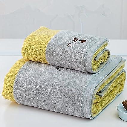 Una toalla de baño para hombres adultos, niños, parejas de algodón bordado suave y