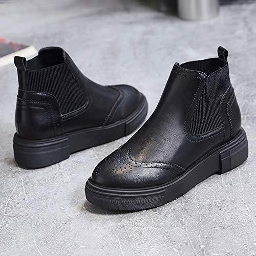 Shukun Shukun Shukun Stiefeletten Martin Stiefel Herbst und Winter Dicke Retro-Stiefel Schuhe schlanke Stiefel Frauen 390b95