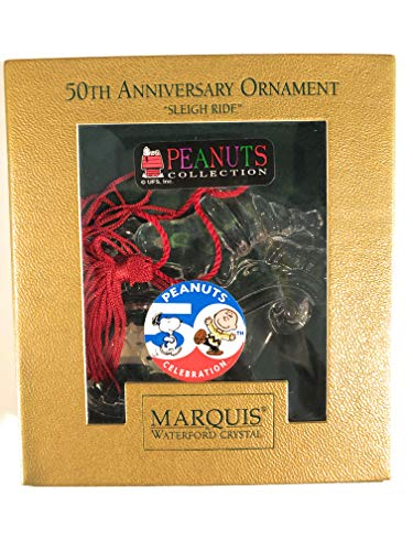Marquis Waterford Peanuts Collection 50th Anniversary Ornament - Sleigh Ride