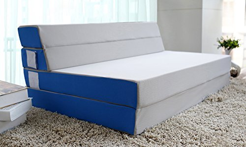 Merax 4 inch folding mattress and sofa adjustable floor for Sofa bed 74 inches