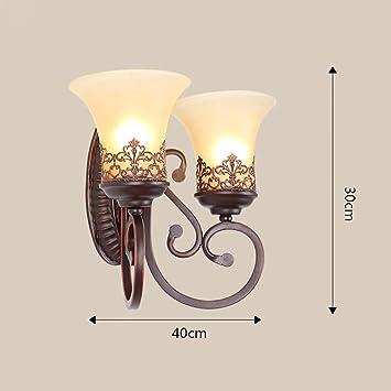 INTASBD Retro Industriellen Stil Dekoration Nachttischlampe Amerikanischen Stil  Wohnzimmer Schlafzimmer Wandleuchte Eisen Licht Lampen (Farbe