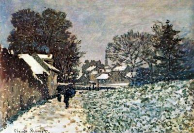 (13x19) Claude Monet Snow at Argenteuil Art Print Poster