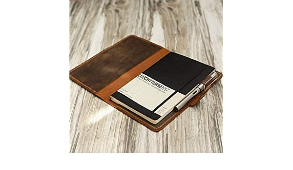 Amazon.com: Distressed Leather Leuchtturm1917 Cover, A5 ...