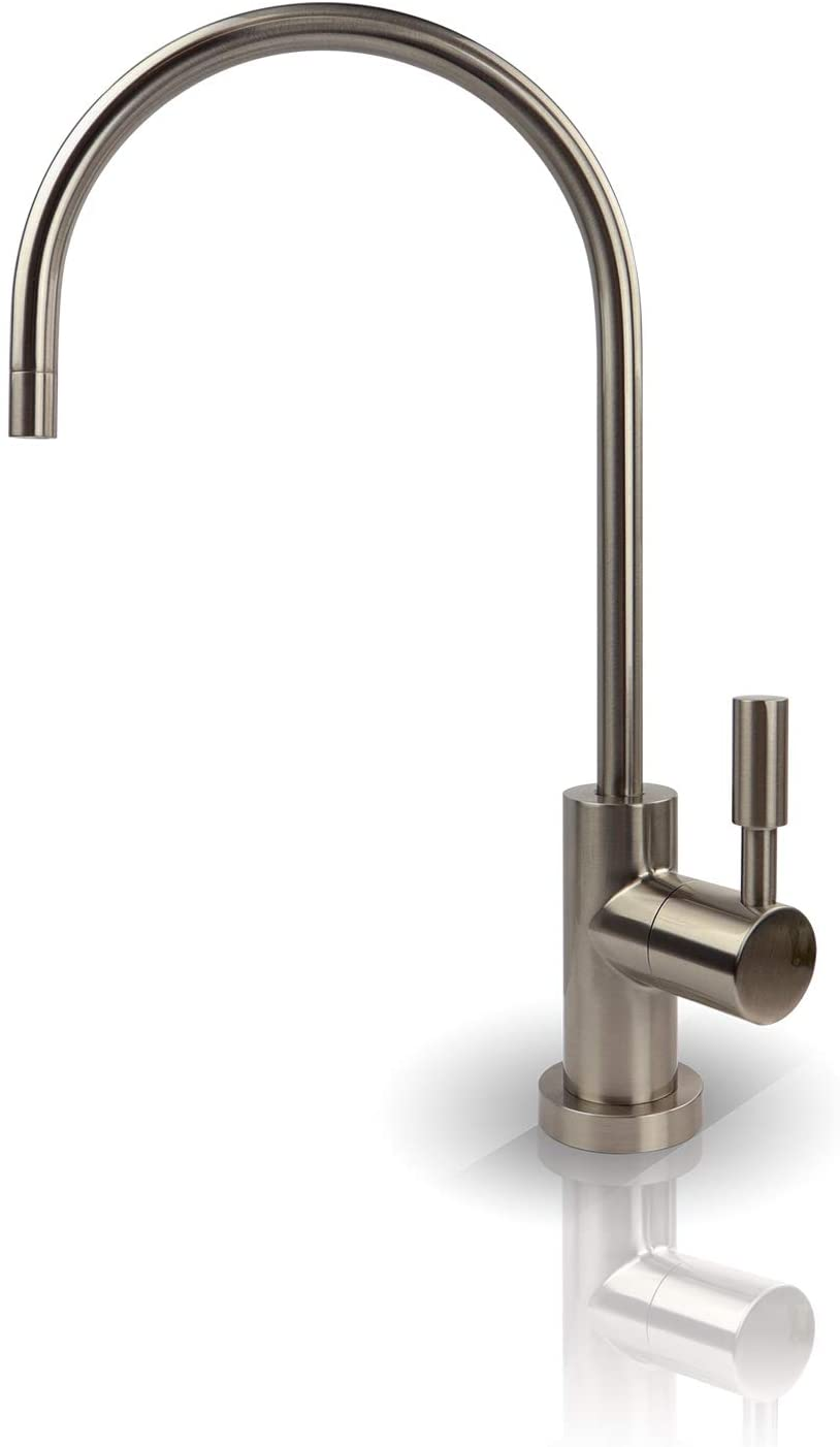 APEC Water Systems FAUCET-CD-NP Kitchen Drinking Water Designer Faucet for Reverse Osmosis and Water Filtration Systems, Non-Air Gap Lead-Free, Brushed Nickel