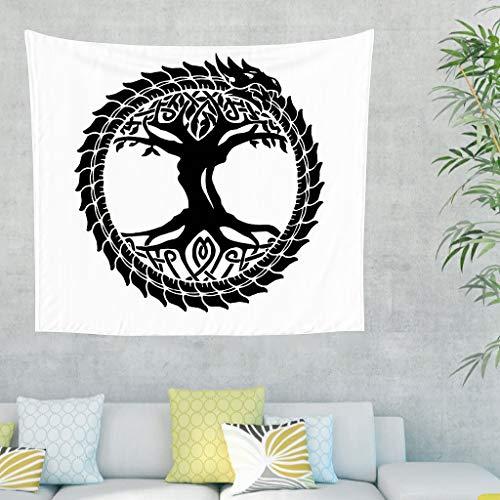 Yggdrasil - Tapiz de pared con diseño de árbol de la vida, dragón ...