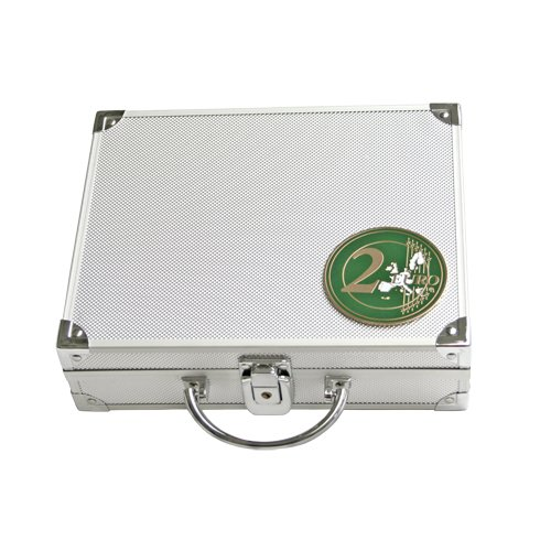 Alu-Münzkoffer für alle 2-Euro-Münzen