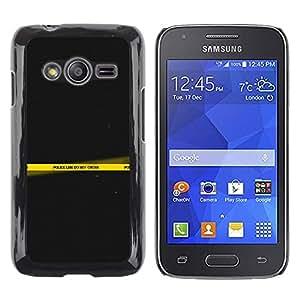 iKiki Tech / Estuche rígido - Police Line Do Not Cross Yellow Art - Samsung Galaxy Ace 4 G313 SM-G313F