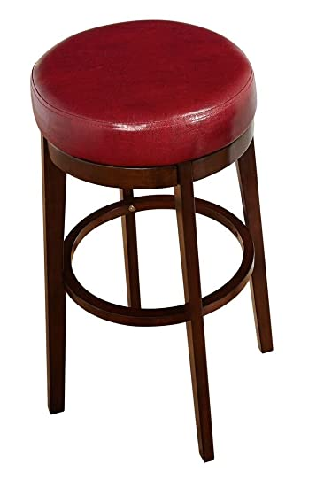 Awe Inspiring Target Marketing Systems The Avenue Collection Contemporary Style Faux Leather Upholstered Wooden Dining Swivel Stool 30 Tall Red Ibusinesslaw Wood Chair Design Ideas Ibusinesslaworg