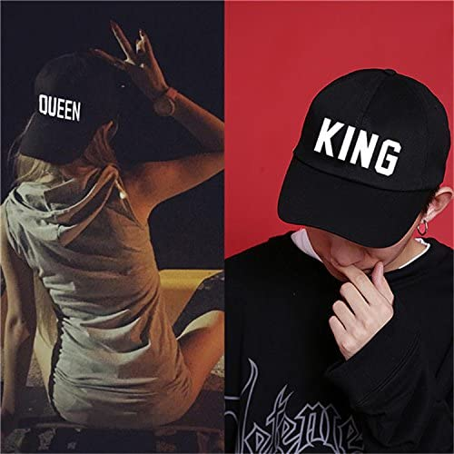 Weka King and Queen Romantic Lovers Couples Sports Cap Adjustable Snapback Hat
