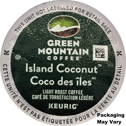 - Green Mountain Coffee Roasters Island Coconut, Single Serve Coffee K-Cup Pod, Flavored Coffee, 24