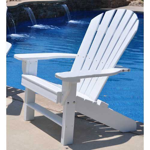 Seaside Adirondack Chair, White (Outdoor Seaside Furniture Casual)