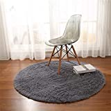 how to decorate a small bedroom GIY Shag Solid Round Area Rugs Soft Plush Living Room Carpet Children Bedroom Rug Bathroom Mats Home Decorate Non-Slip Modern Circular Runners Sky Blue 3' X 3'