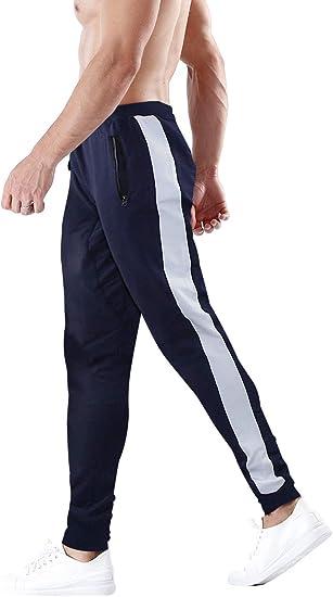 Wan-T Men Elastic Waist Running Trainning Sport Solid Color Jogger Pants