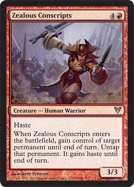 Magic  The Gathering   Zealous Conscripts  166    Avacyn Restored