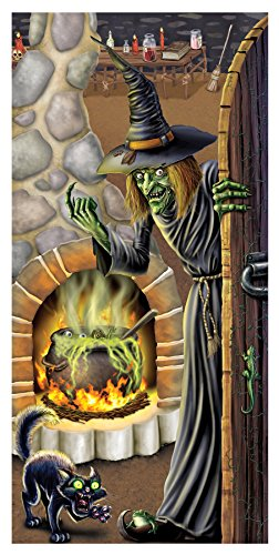 Creepy Witch's Brew Door Cover Horror Party Supplies Halloween ()