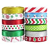 hip girl boutique christmas grosgrain satin ribbon collection for holidays