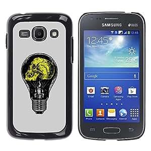 GOODTHINGS Funda Imagen Diseño Carcasa Tapa Trasera Negro Cover Skin Case para Samsung Galaxy Ace 3 GT-S7270 GT-S7275 GT-S7272 - gris bombilla amarilla idea amarilla