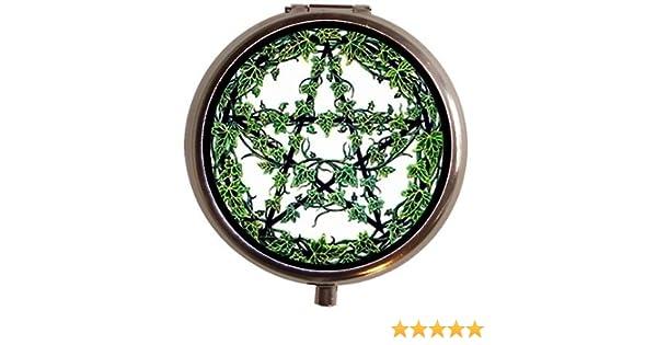 Wicca Pentagram Wreath Witch Goth Pill Box by Sweetheartsinner