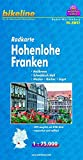 Bikeline Radkarte: Hohenlohe Franken, Heilbronn - Schwäbisch Hall - Neckar - Kocher - Jagst, RK-BW02. 1 : 75.000, wasserfest/reißfest, GPS-tauglich mit UTM-Netz