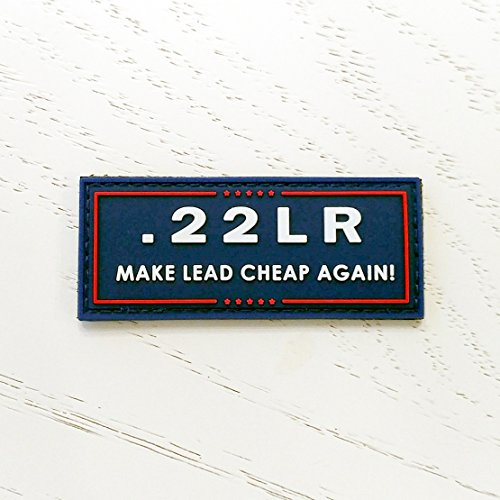 .22LR MAKE LEAD CHEAP AGAIN - Rubber Morale Patch, Velcro Backed by NEO Tactical (Infrared Unit Patch)