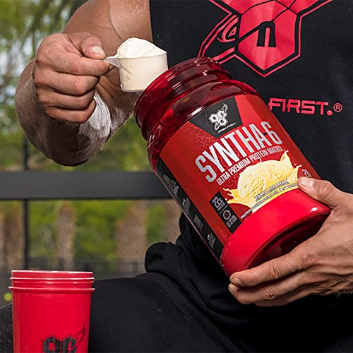 BSN SYNTHA-6 Whey Protein Powder, Micellar Casein, Milk Protein Isolate Meal Replacement Powder, Chocolate Milkshake, 48 Servings (Packaging May Vary)