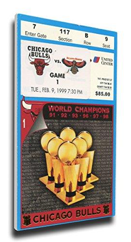 Wall Ticket (That's My Ticket Chicago Bulls 1999 Opening Night/Banner Raising Mega Ticket Wall Decor)